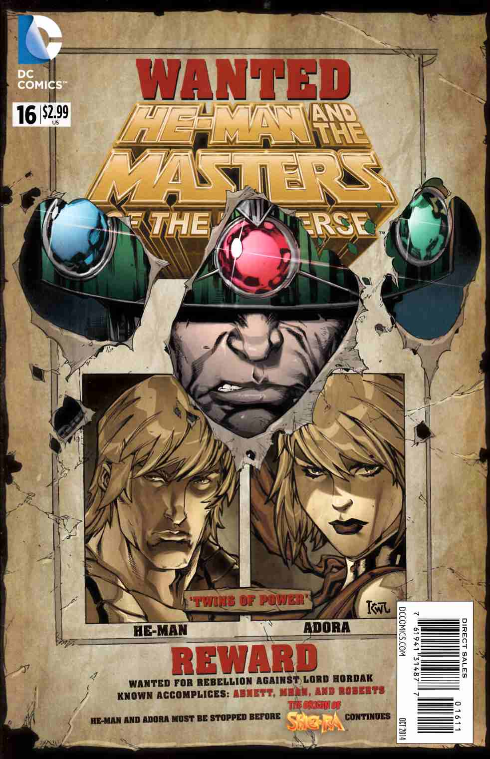 He Man and the Masters of the Universe #16 [DC Comic] THUMBNAIL