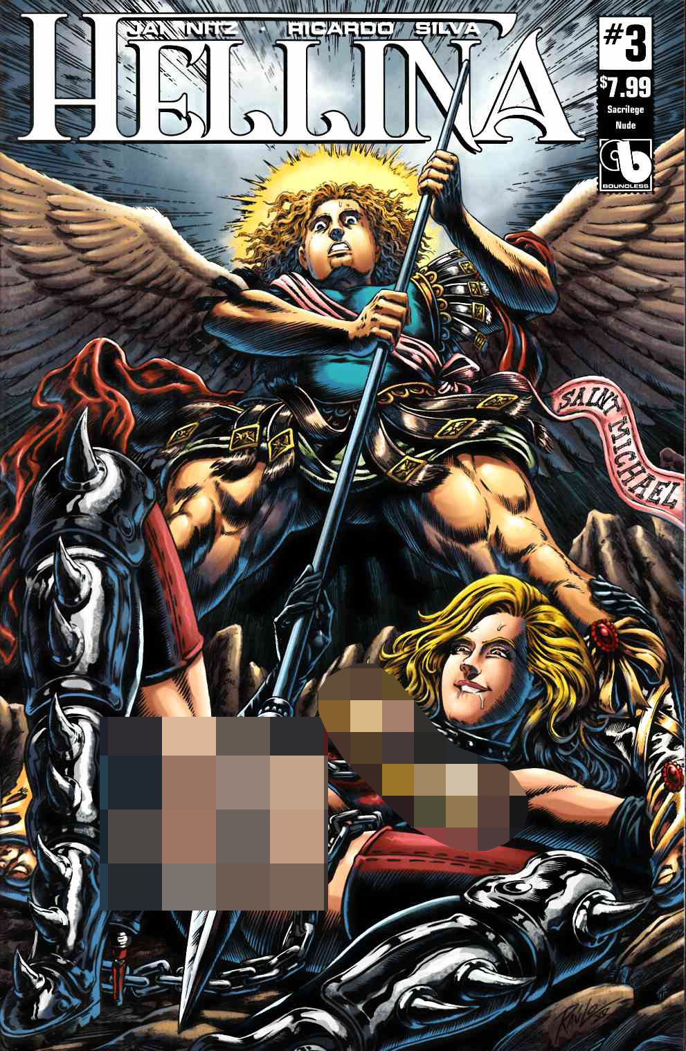 Hellina #3 Sacrilege Nude Cover [Boundless Comic] THUMBNAIL