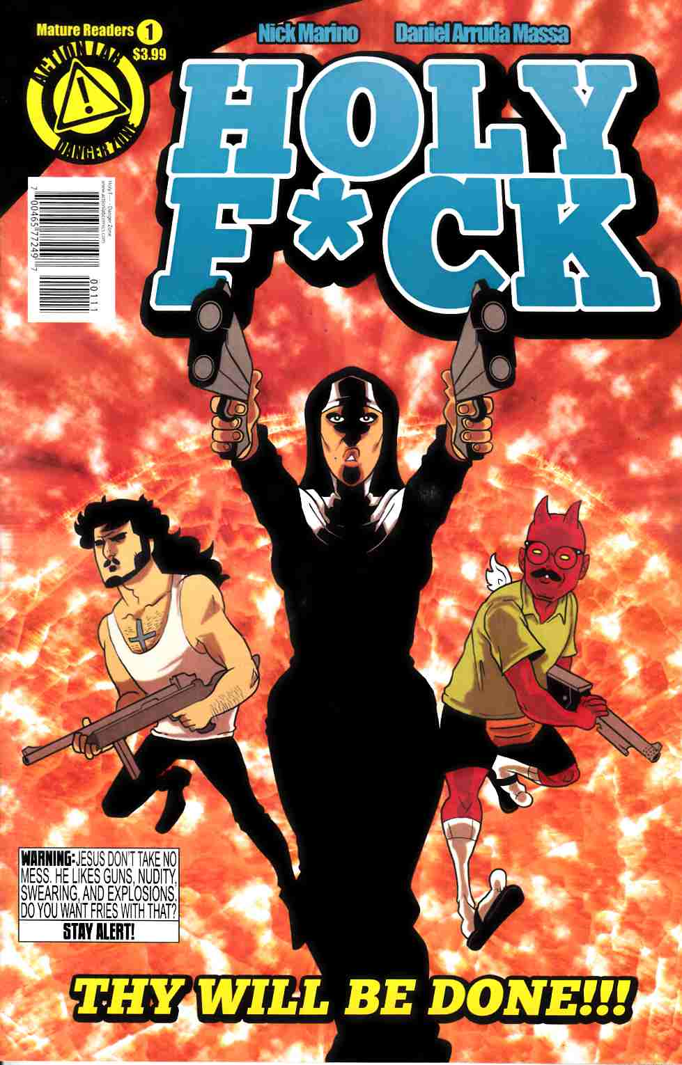 Holy F*ck #1 Main Cover [Danger Zone Comic] THUMBNAIL