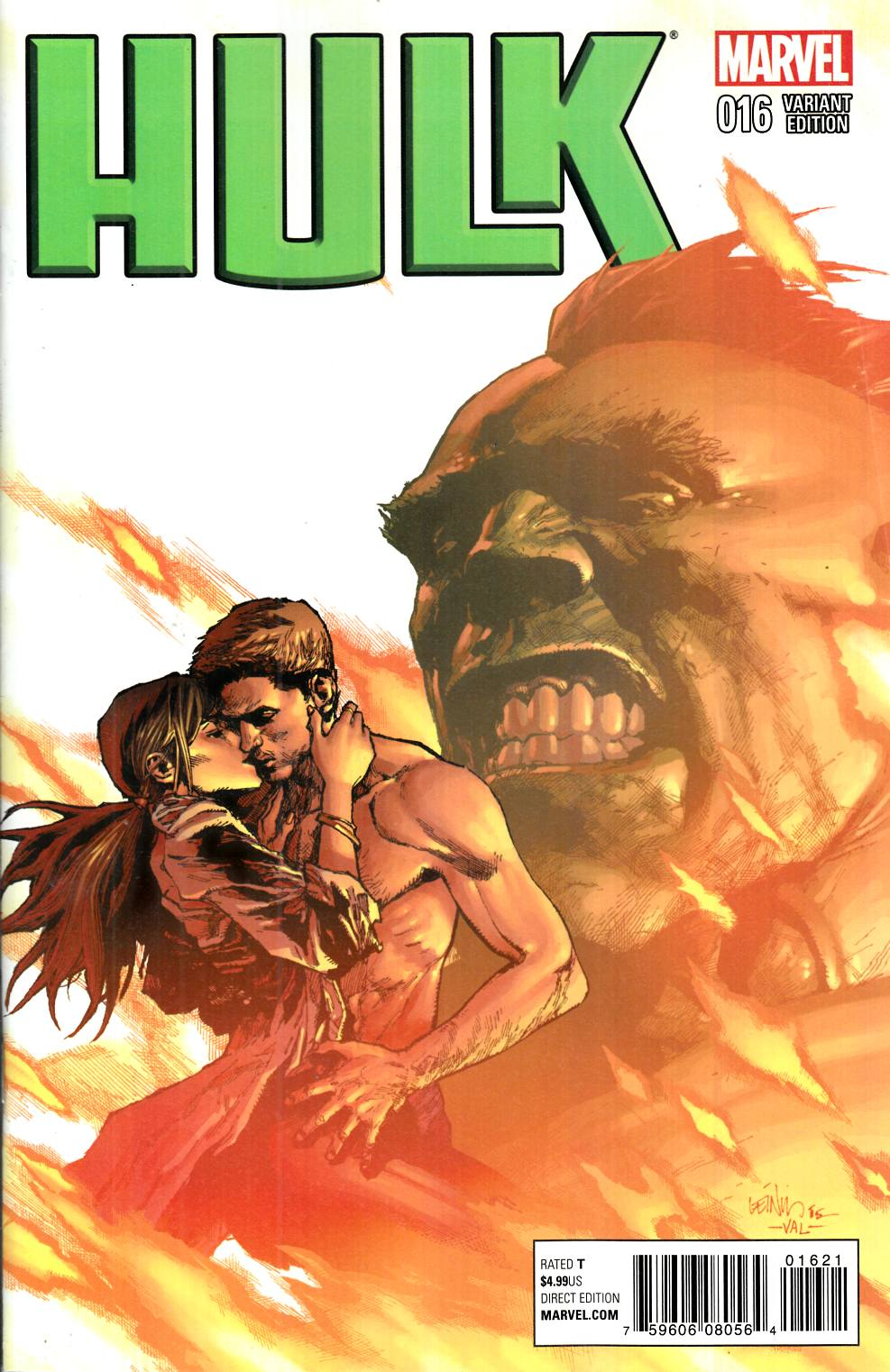 Hulk #16 Yu Variant Cover [Marvel Comic] THUMBNAIL