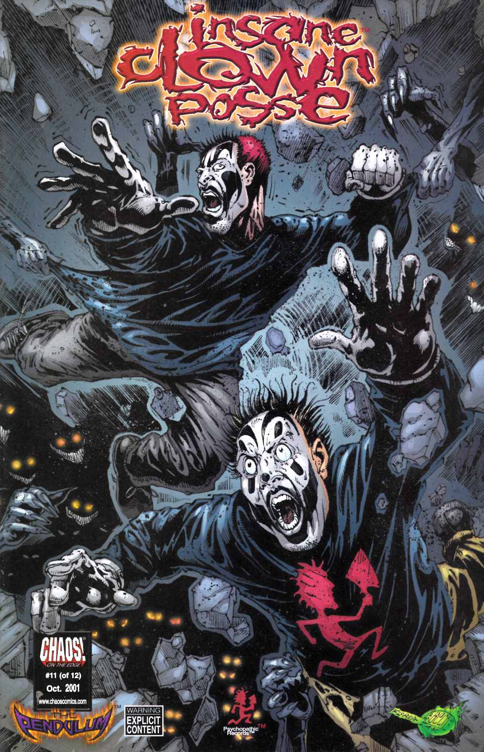 Insane Clown Posse the Pendulum #11 Unbagged Near Mint Minus (9.2) [Chaos Comic] THUMBNAIL