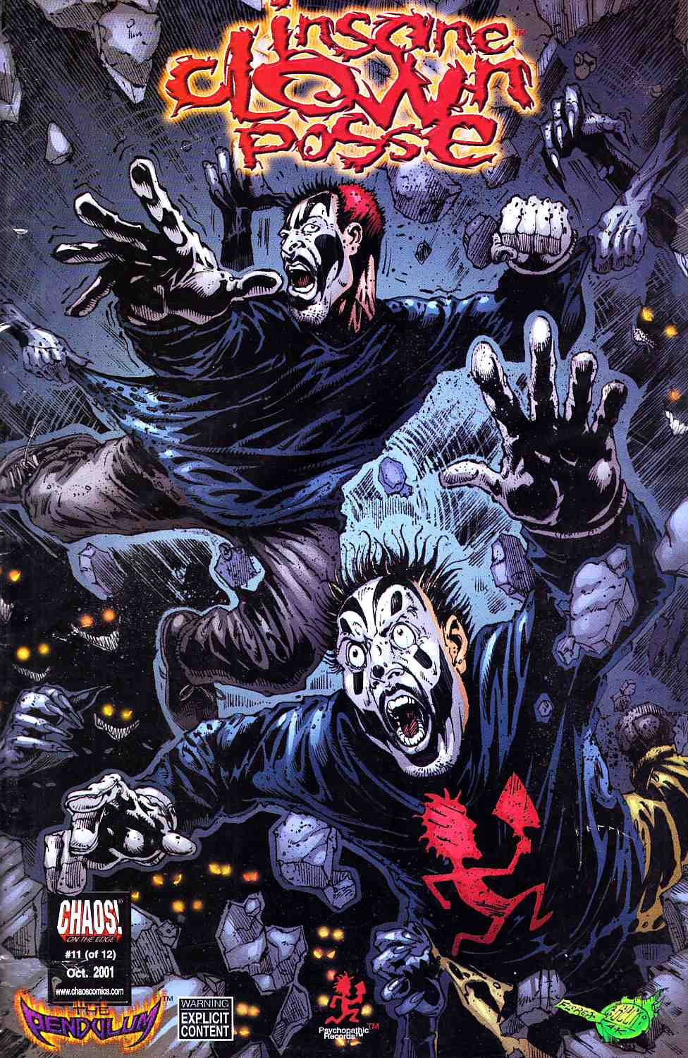 Insane Clown Posse the Pendulum #11 Sealed with CD [Chaos Comic] THUMBNAIL