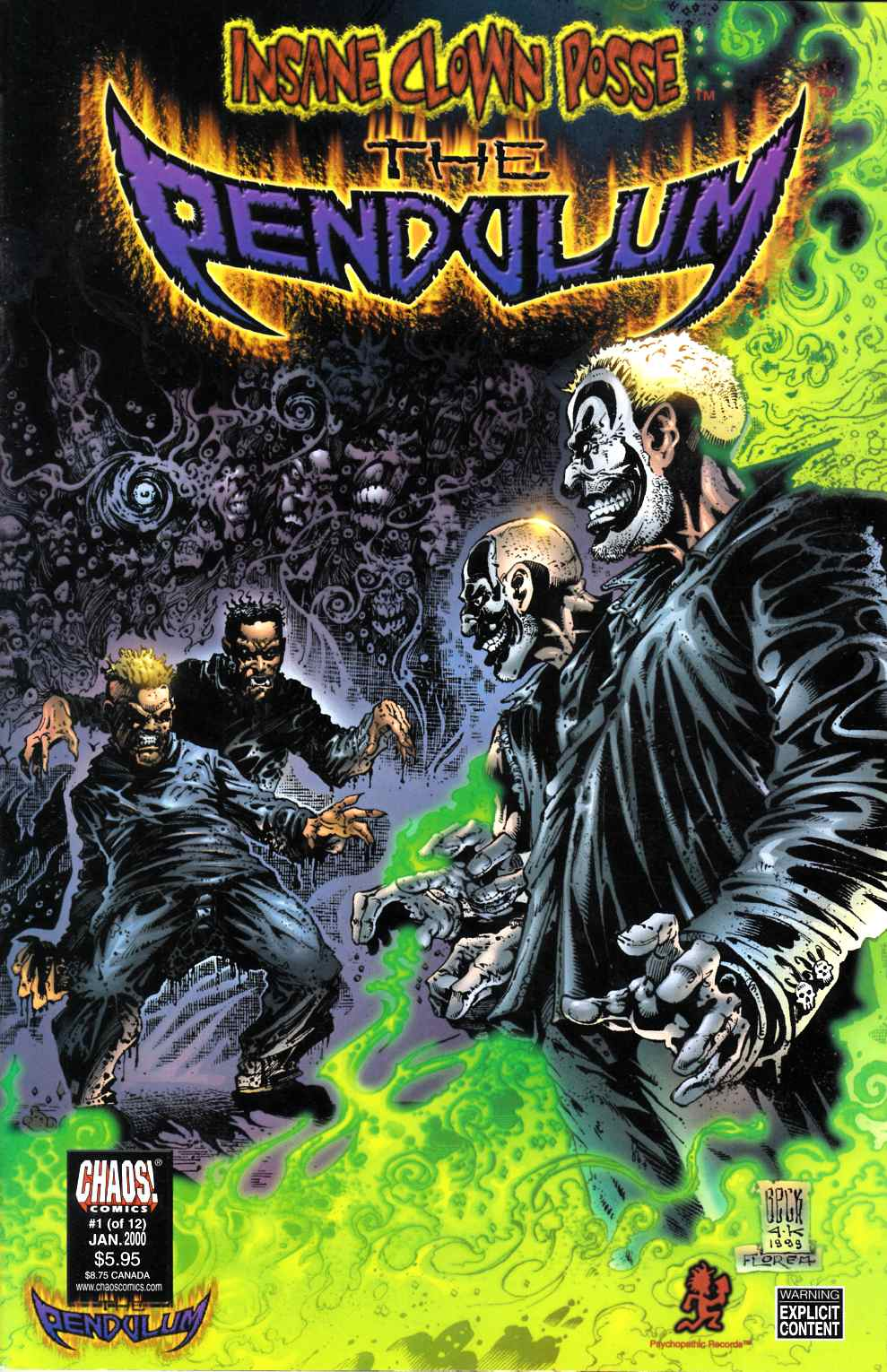 Insane Clown Posse the Pendulum #1 Unbagged Near Mint Minus (9.2) [Chaos Comic] THUMBNAIL