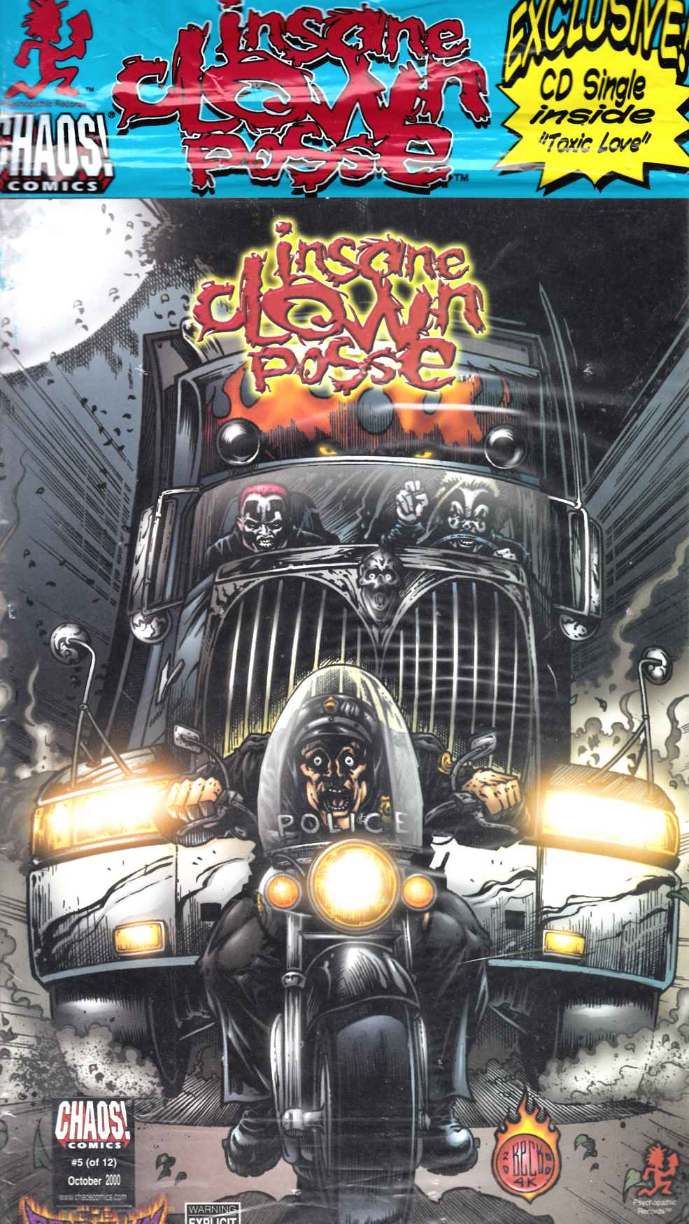 Insane Clown Posse the Pendulum #5 Sealed with CD Near Mint (9.4) [Chaos Comic] LARGE