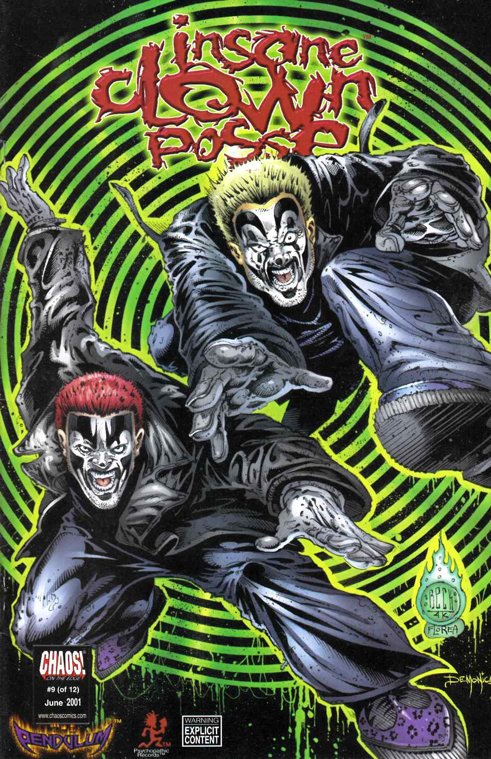 Insane Clown Posse the Pendulum #9 Unbagged Fine (6.0) [Chaos Comic] THUMBNAIL