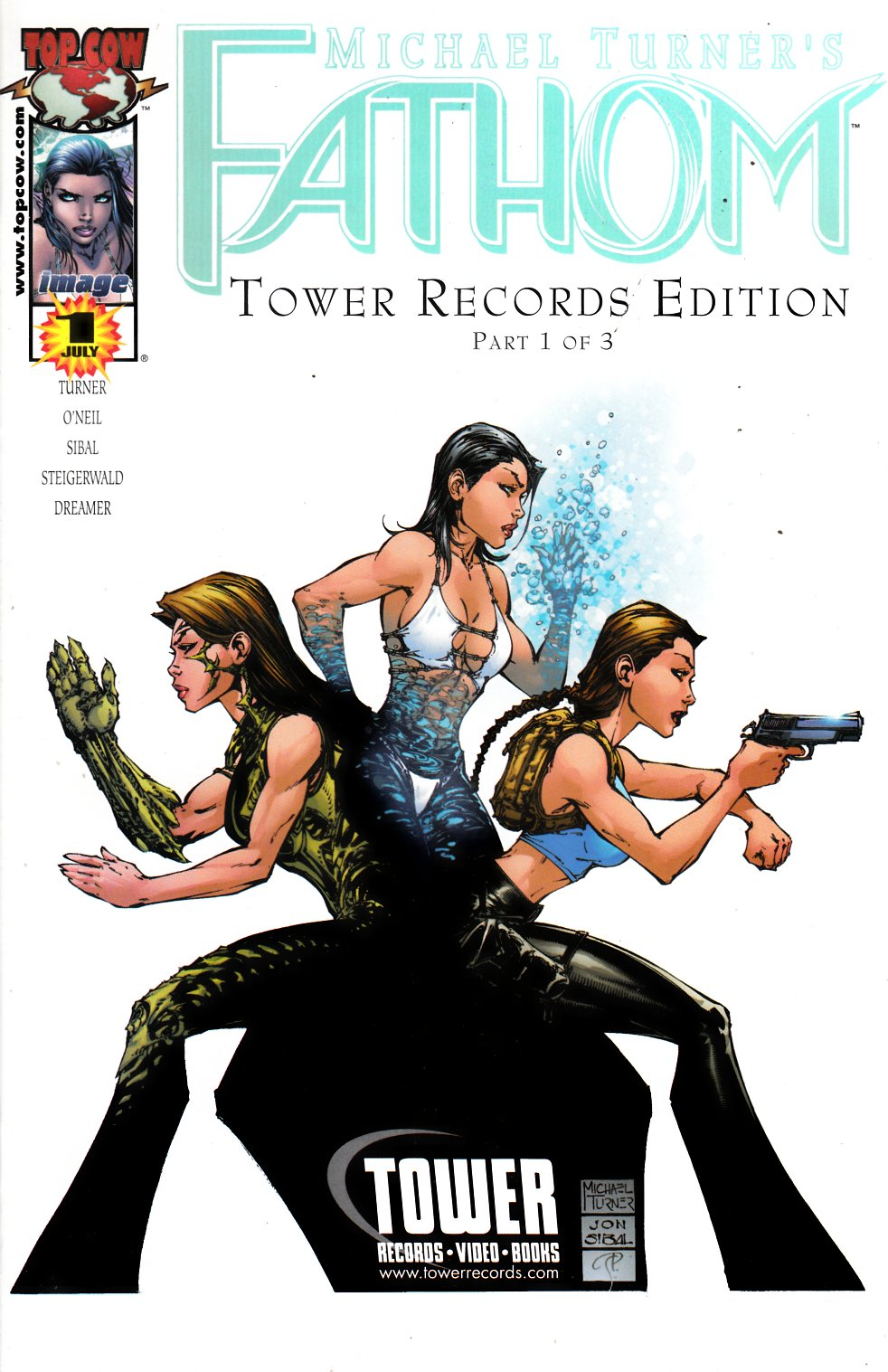 Fathom #12 Tower Records Exclusive Cover Very Fine (8.0) [Image Comic] THUMBNAIL