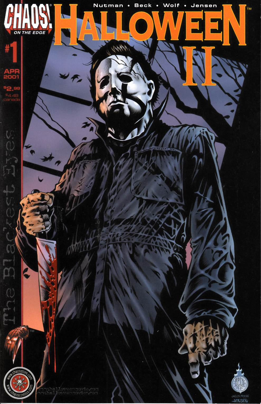 Halloween II the Blackest Eyes #1 Near Mint (9.4) [Chaos Comic] THUMBNAIL