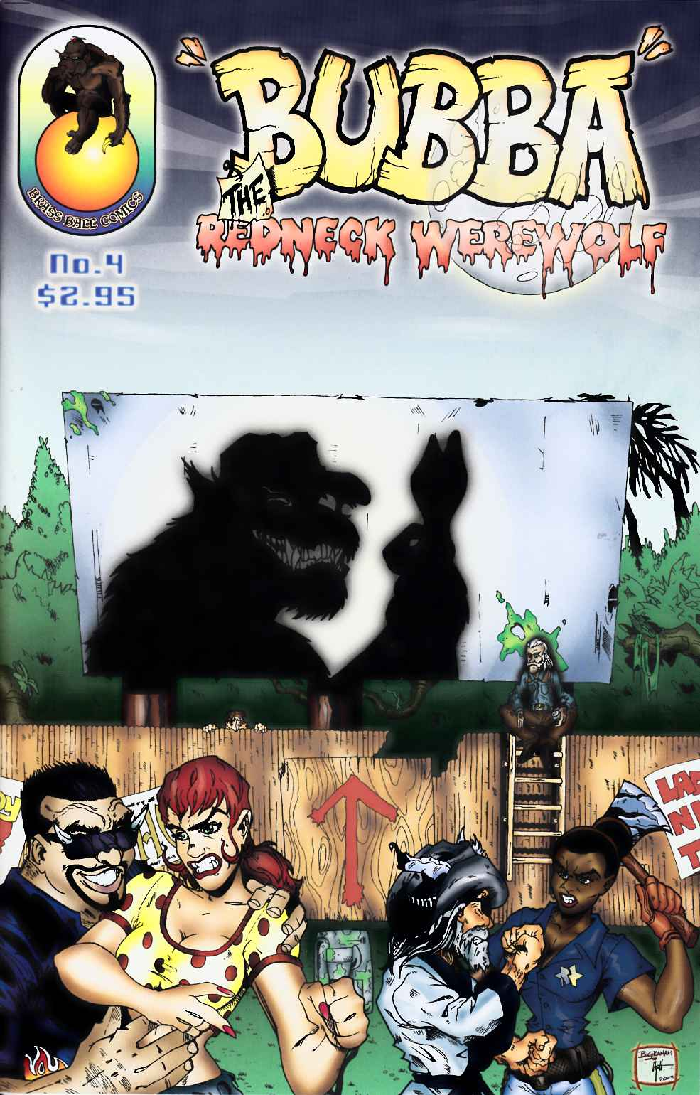 Bubba the Redneck Werewolf #4 [Brass Ball Comic] THUMBNAIL