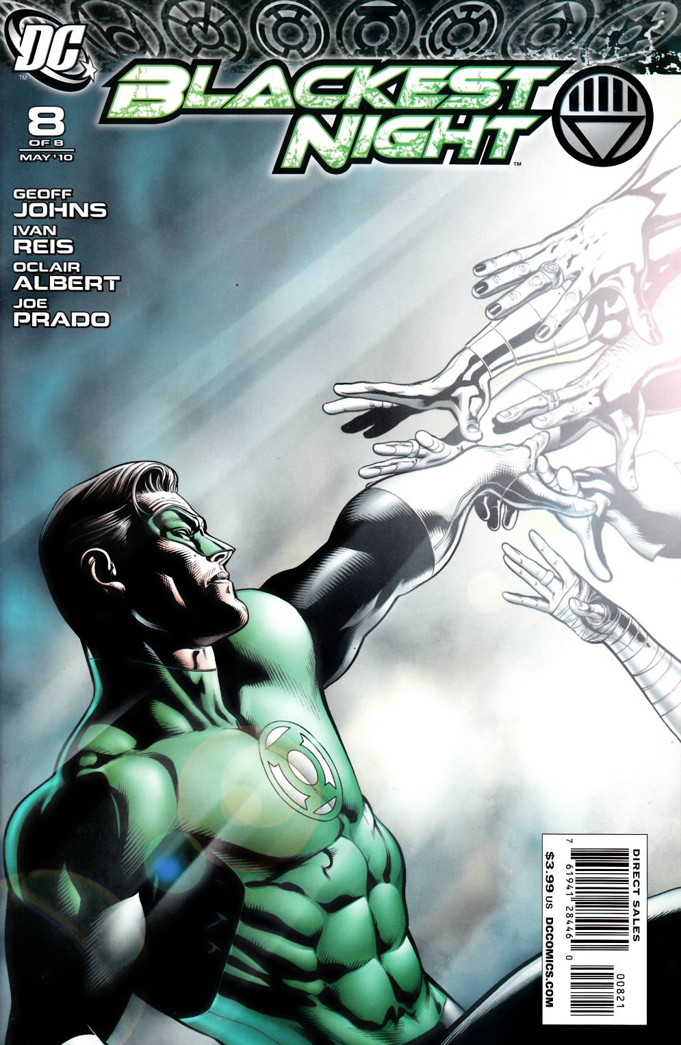 Blackest night #8 Migliari Variant Cover Near Mint (9.4) [DC Comic] THUMBNAIL