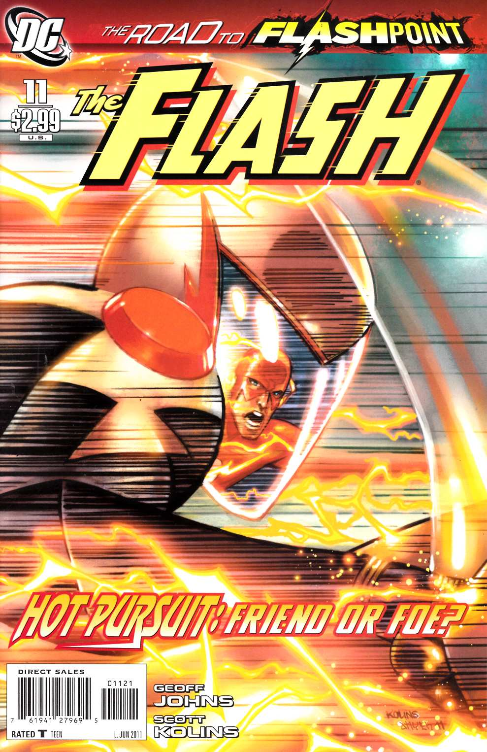Flash #11 Kolins Variant Cover Near Mint (9.4) [DC Comic]_THUMBNAIL