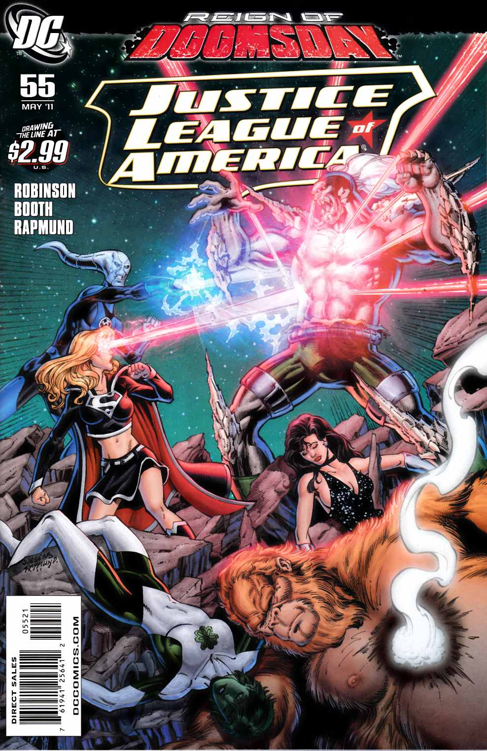 Justice League of America #55 Jurgens Variant Cover Near Mint (9.4) [DC Comic]_THUMBNAIL