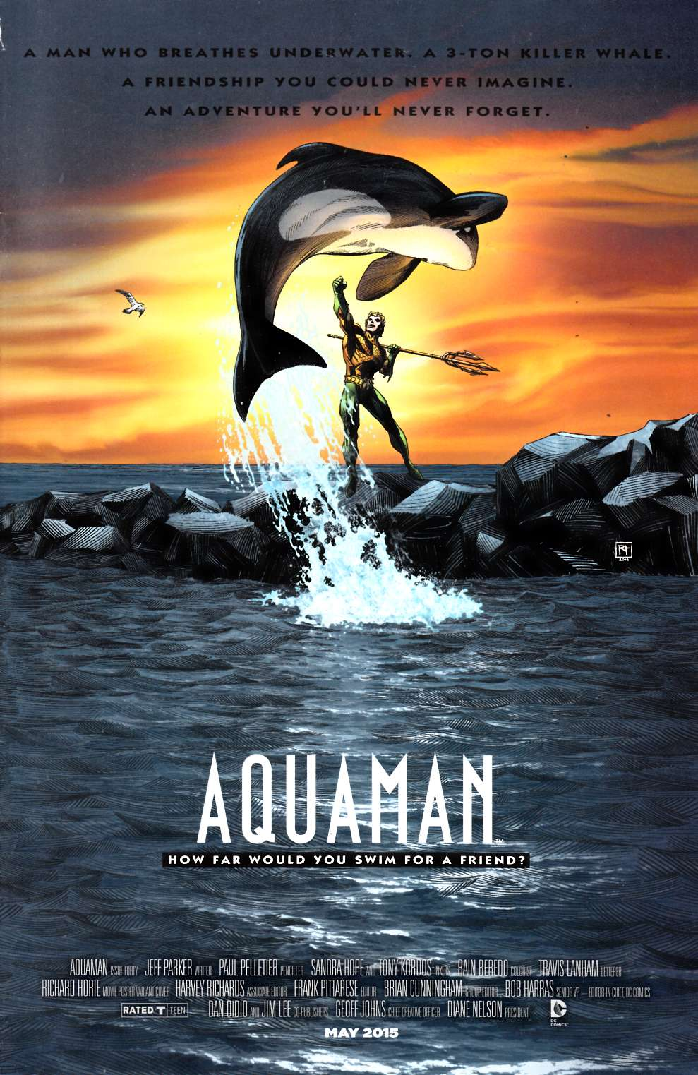 Aquaman #40 Movie Poster Variant Cover Very Good (4.0) [DC Comic] LARGE