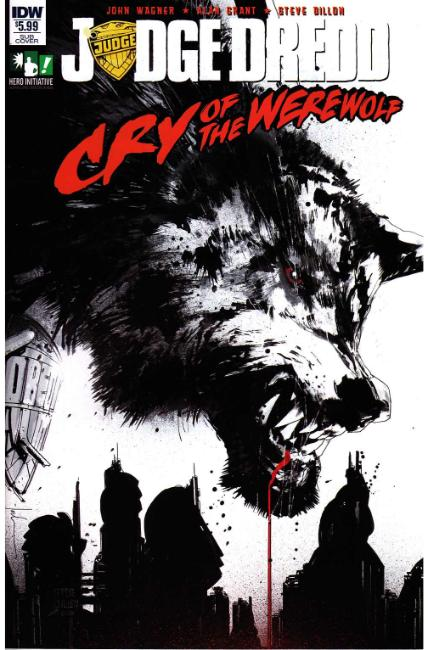 Judge Dredd Cry of the Werewolf (One Shot) Subscription Cover [IDW Comic] LARGE