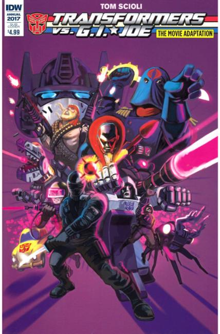 Tranformers vs GI Joe Movie Adaptation (One Shot) Subscription Cover [IDW Comic] LARGE