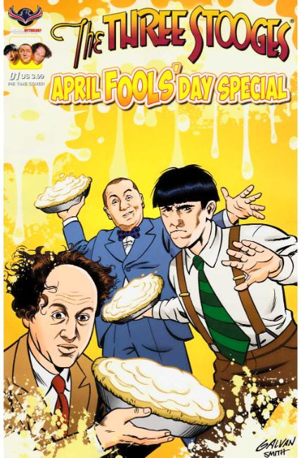 Three Stooges April Fools Day (One Shot) Pie Time Cover [American Myth Comic] THUMBNAIL