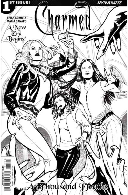 Charmed #1 Cover I- Sanapo B&W FOC Incentive [Dynamite Comic] LARGE