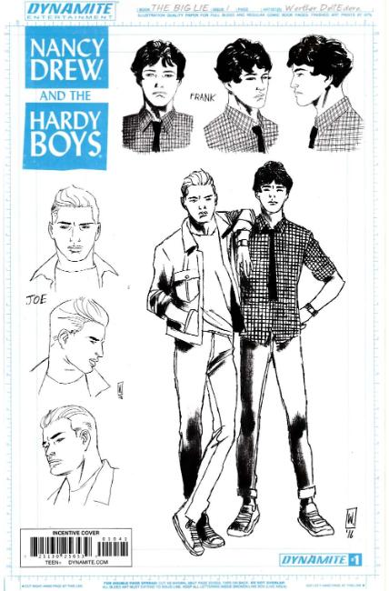 Nancy Drew Hardy Boys #1 Cover D- Hardy Boys Design Incentive [Dynamite Comic] THUMBNAIL