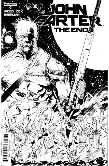 John Carter the End #2 Cover C- Brown B&W Incentive [Dynamite Comic] THUMBNAIL