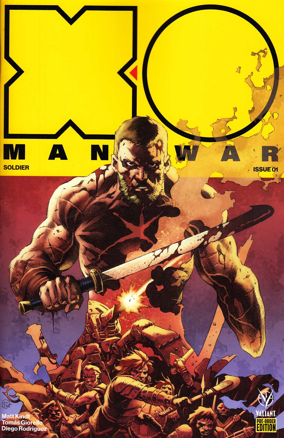 X-O Manowar #1 Cover C- Preorder Giorello Variant [Valiant Comic] LARGE