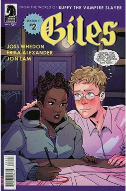 BTVS Season 11 Giles #2 Jovellanos Variant Cover [Dark Horse Comic]