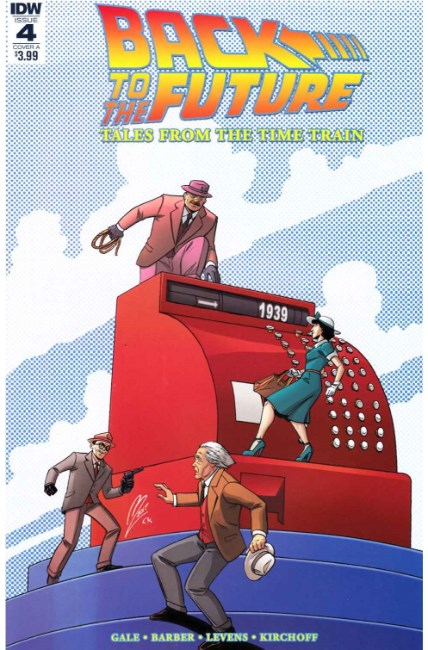 Back to the Future Time Train #4 Cover A [IDW Comic] LARGE