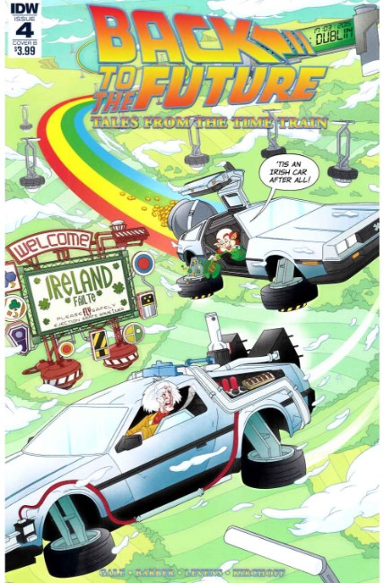 Back to the Future Time Train #4 Cover B [IDW Comic]