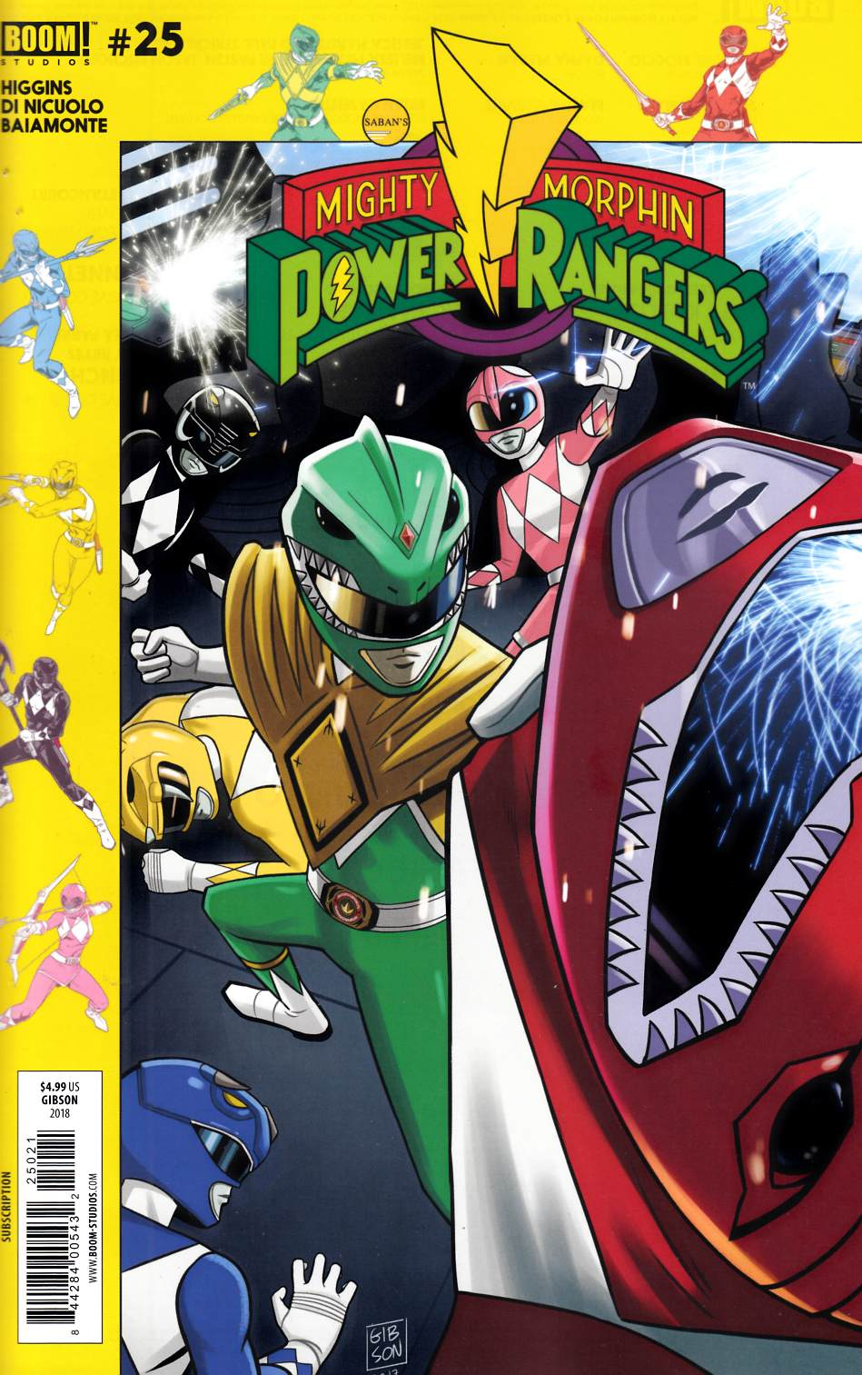 Mighty Morphin Power Rangers #25 Subscription Cover Near Mint (9.4) [Boom Comic] THUMBNAIL