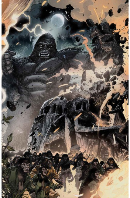 Kong on Planet of Apes #5 Connecting Magno Variant Cover [Boom Comic]