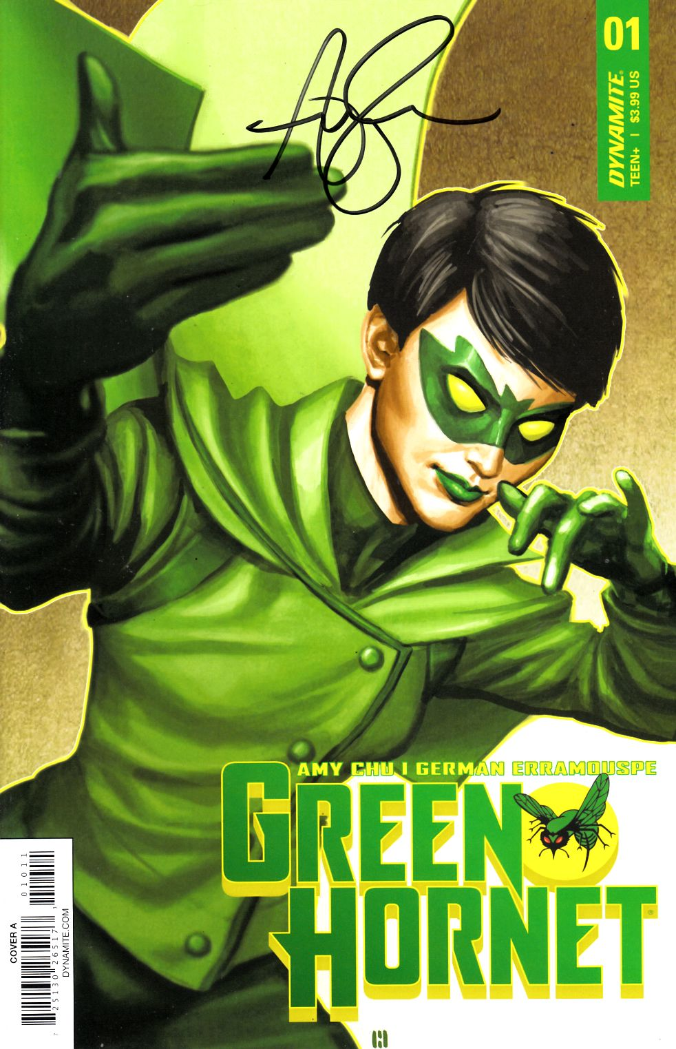 Green Hornet #1 Cover A Signed by Amy Chu Near Mint (9.4) [Dynamite Comic] THUMBNAIL