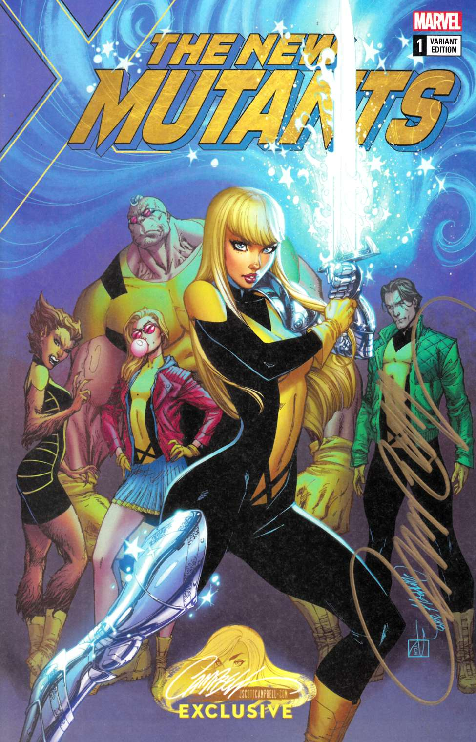New Mutants Dead Souls #1 J Scott Campbell Variant Cover A Signed [Marvel Comic] LARGE