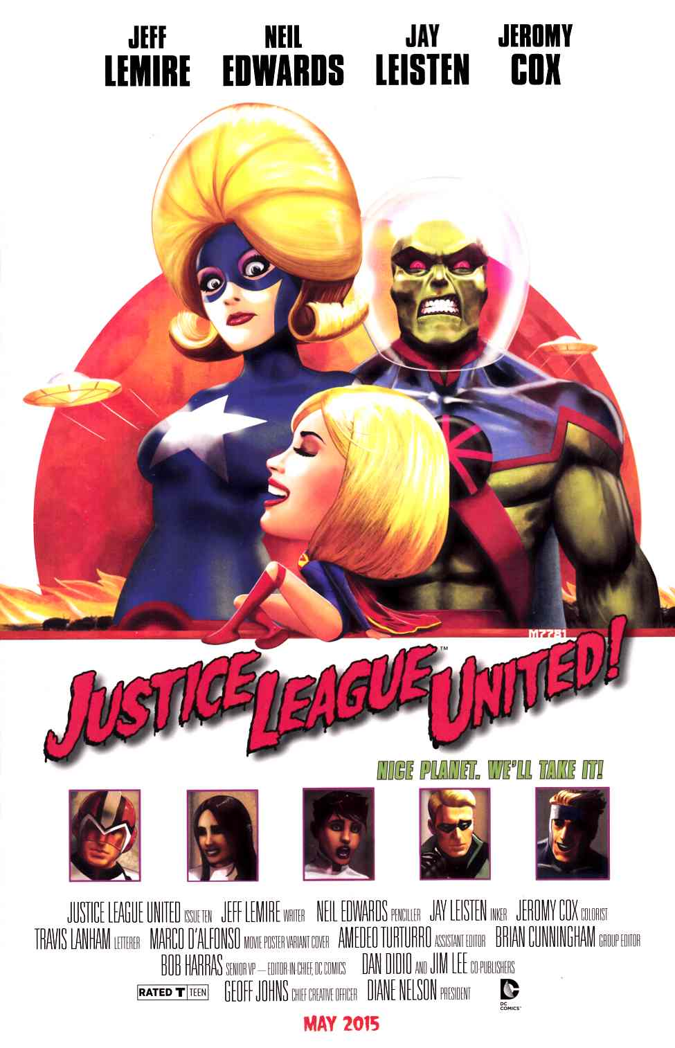 Justice League United #10 Movie Poster Variant Cover [DC Comic] THUMBNAIL