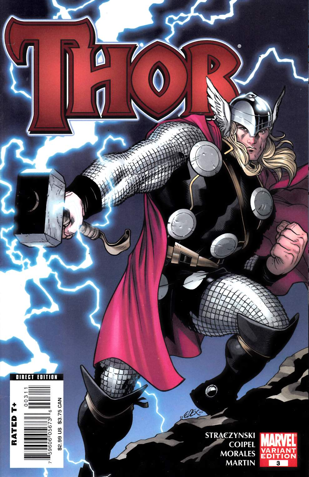 Thor #3 Cover B Very Fine (8.0) [Marvel Comic] THUMBNAIL