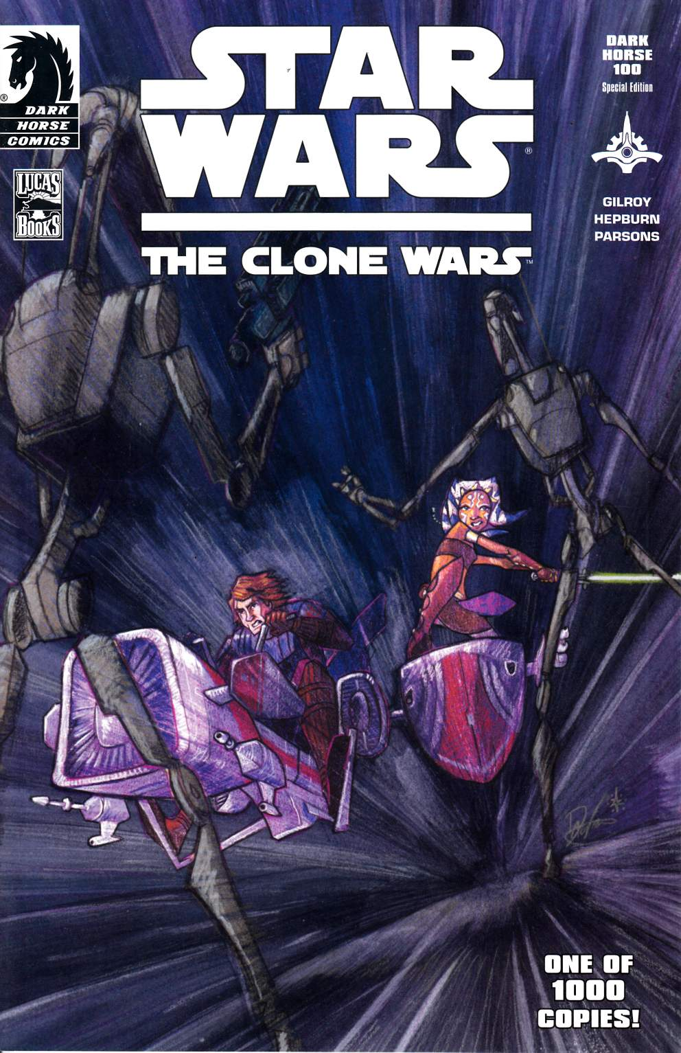 Star Wars Clone Wars #1 DH 100 Exclusive Variant Cover Near Mint Minus (9.2) [Dark Horse Comic]_THUMBNAIL
