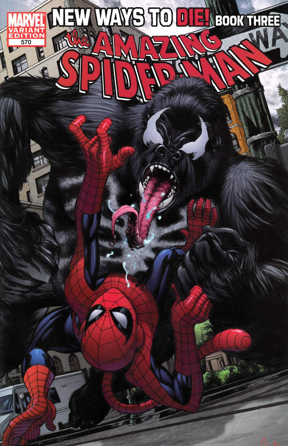 Amazing Spider-Man #570 Monkey Variant Cover Very Fine (8.0) [Marvel Comic]