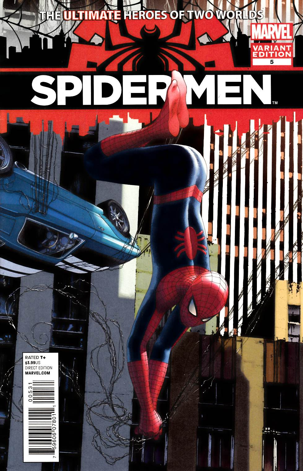 Spider-Men #5 Charest Variant Cover Near Mint Minus (9.2) [Marvel Comic] THUMBNAIL