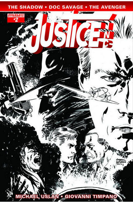 Justice Inc #2 Hardman B&W Incentive Cover [Comic]
