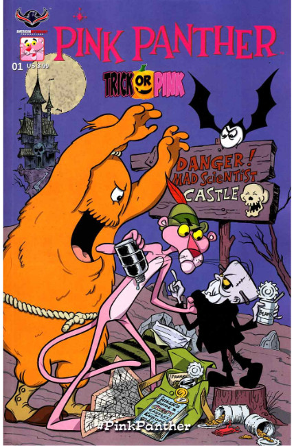 Pink Panther Trick Or Pink #1 Pink Hijinks Cover [American Mythology Comic] THUMBNAIL