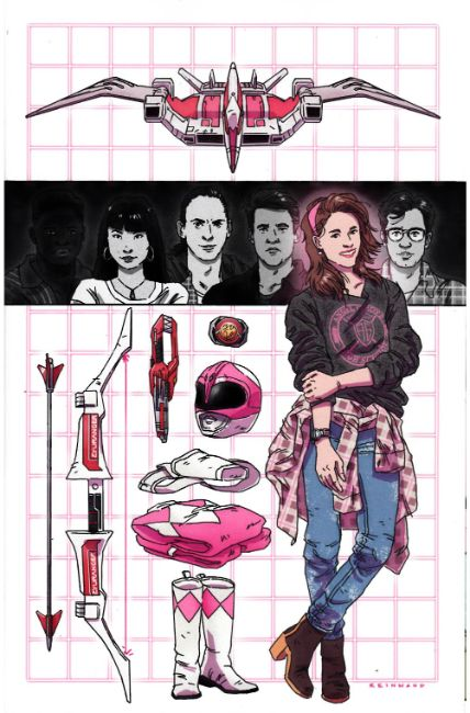 Power Rangers Pink #5 Reinwand Incentive Cover [Boom Comic] THUMBNAIL