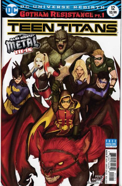 Teen Titans #12 Hardin Variant Cover (Metal) [DC Comic] LARGE