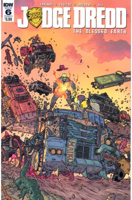 Judge Dredd Blessed Earth #6 Cover A [IDW Comic]