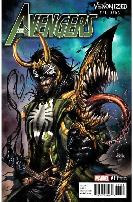 Avengers 11 Kirkham Venomized Loki Variant Cover Marvel Comic View Enlarged Image