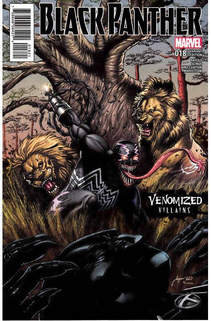 Black Panther #18 Chin Venomized Klaw Variant Cover [Marvel Comic]_LARGE