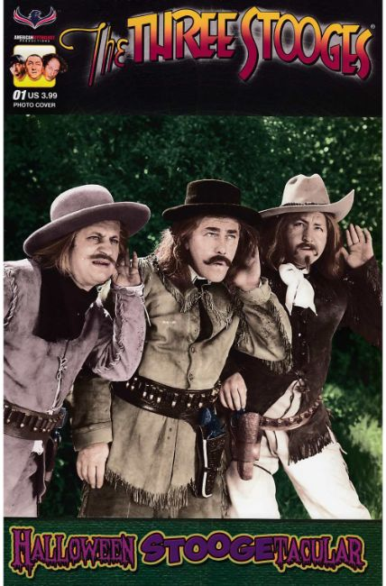 Three Stooges Halloween Stoogetacular (One Shot) Photo Cover [American Myth Comic] THUMBNAIL