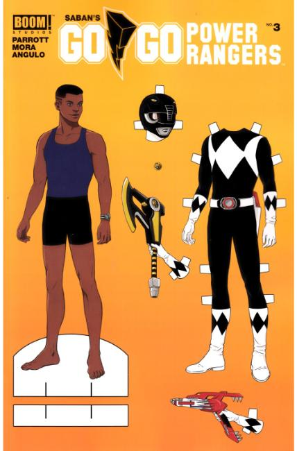 Go Go Power Rangers #3 Paper Doll Variant Cover [Boom Comic] THUMBNAIL