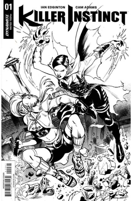 Killer Instinct #1 Cover F- Cinar B&W Incentive [Dynamite Comic] THUMBNAIL