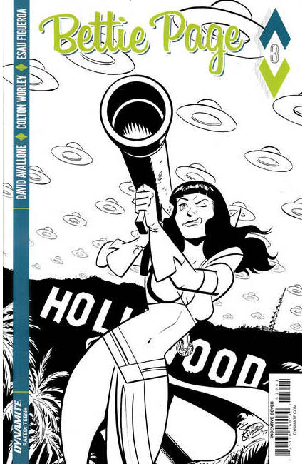 Bettie Page #3 Cover D- Chantler B&W Incentive [Dynamite Comic] THUMBNAIL