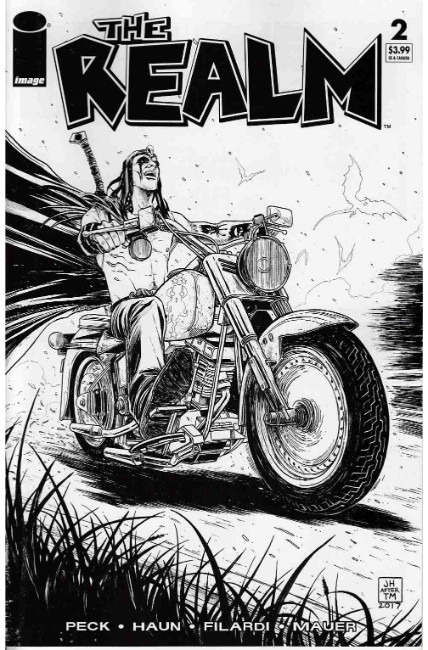 Realm #2 Cover D- Walking Dead #15 B&W Tribute Cover [Image Comic] LARGE