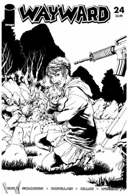 Wayward #24 Cover D- Walking Dead #47 B&W Tribute Cover [Image Comic] LARGE