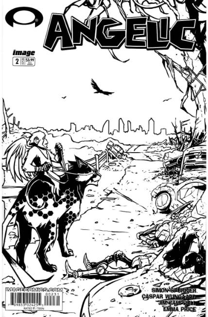 Angelic #2 Cover C- Walking Dead #2 B&W Tribute Cover [Image Comic] THUMBNAIL