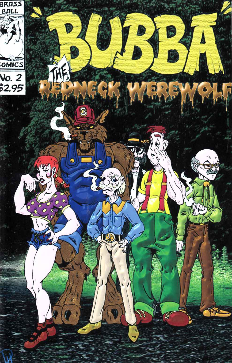 Bubba the Redneck Werewolf #2 Near Mint (9.4) [Brass Ball Comic] THUMBNAIL